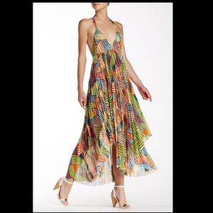 alice olivia Ollie Halter Handkerchief Maxi Dress